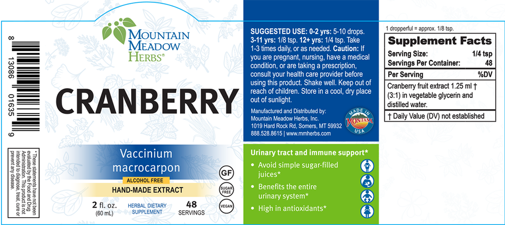 Cranberry Extract (2 oz.)