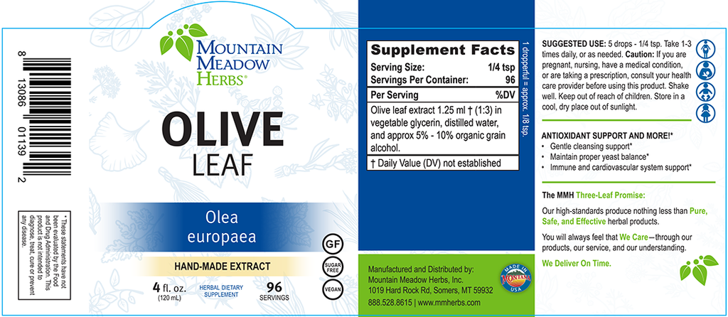 Olive Leaf Extract (4 oz.)