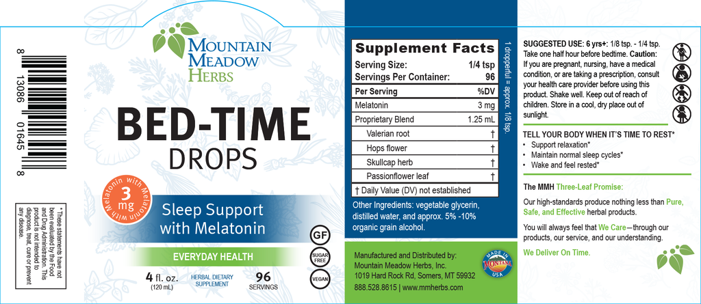 Bed-Time Drops with Melatonin (4 oz.)